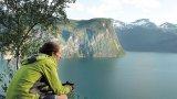 LARI GIORGESCU - Cu bicicleta, în Norvegia
