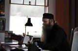 La Mânăstirea Nuşeni, în raiul Năsăudului, cu stareţul Paisie