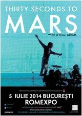 THIRTY SECONDS TO MARS - Trupa americană a actorului JARED LETO aterizează la Bucureşti