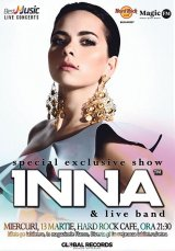 INNA, în concerte la Bucureşti şi la Cluj