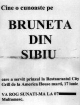 Bruneta din Sibiu