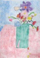 Icoana printre flori